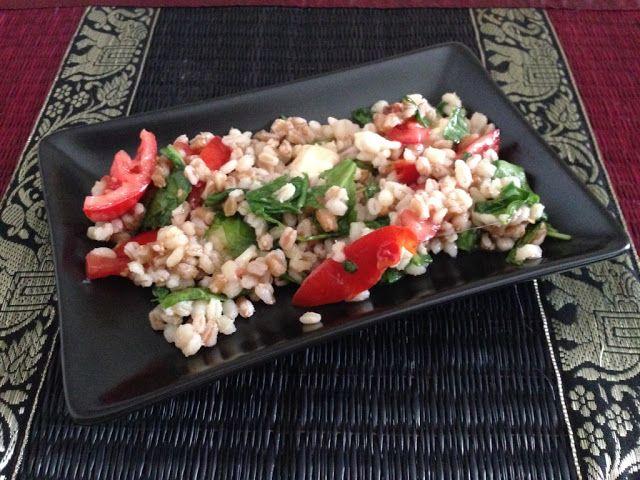 Myeu appunti vegetariani: Insalata di farro e orzo