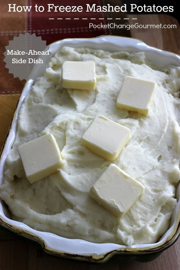 Be one step ahead! Prepare your Mashed Potatoes ahead, freeze and have them ready for your holiday dinner! Learn How to Freeze Mashed Potatoes! Pin to your Holiday Board!