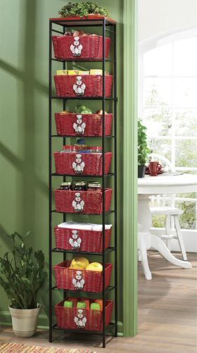 chef tall basket shelf from through the country door® | kitchen