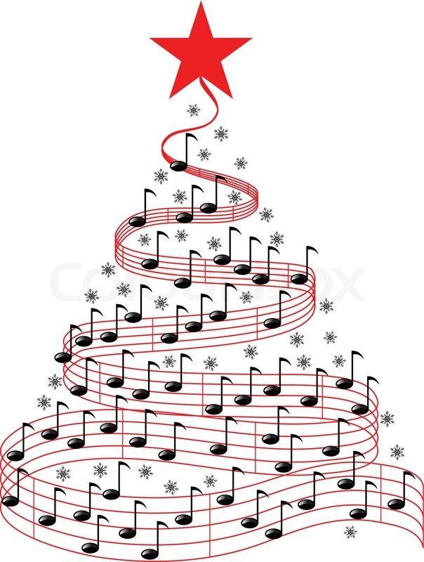 Christmas Music Clipart.Stock Vector Of Christmas Music Tree Christmas Piano