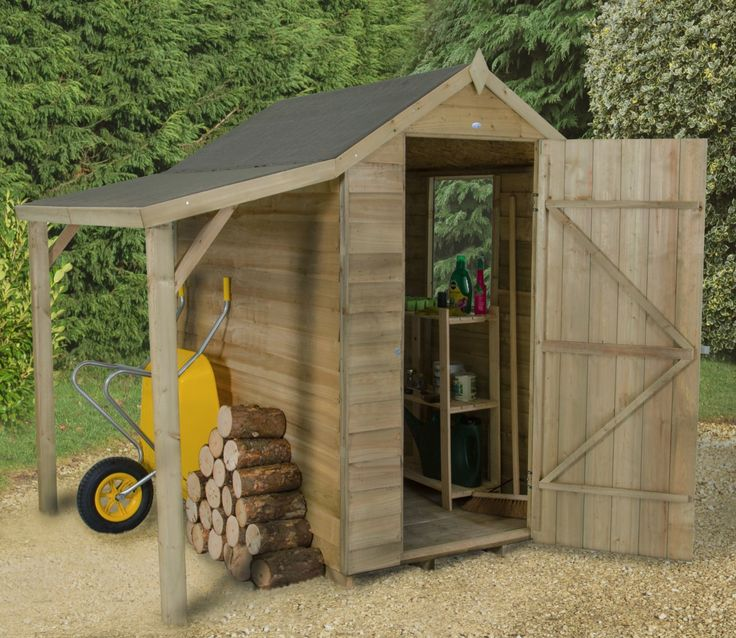 4 x 6 Overlap Pressure Treated Apex Shed with Lean To - GardenSite.co.uk - There's nothing like an open fire or wood burner to keep you warm through the winter months, but logs must be dry and well seasoned to burn efficiently.