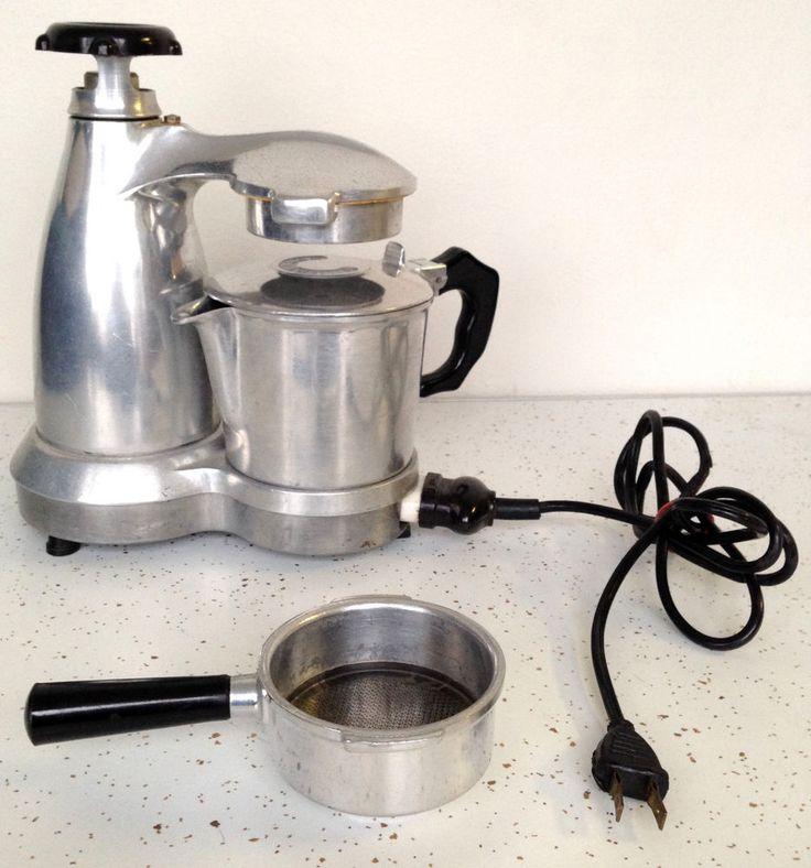 Vintage Salton Vesuviana Espresso Latte Coffee Maker Electric Atomic MCM Italian #Vintage #Coffee #Espresso #MidCentury #Amotic #Thriftytrendz