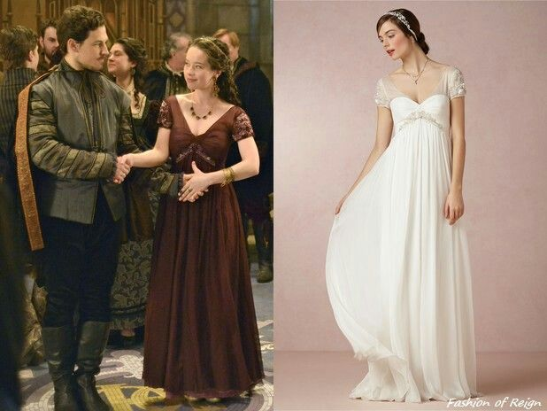 """In the episode 1x17 (""""Liege Lord"""") Lady Lola wears this sold out Badgley Mischka Elisa Gown (the dress was dyed by Reign Costume Dept). Worn with a vintage necklace from Magwood Boutique, Oscar de la Renta earrings and Danielle Stevens ring."""