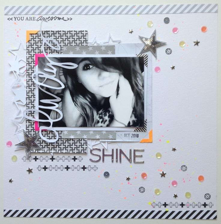 """#papercraft #scrapbook #layout  Always Shine by Jenns Doodles at @Studio_Calico; like the title and """"bling"""""""