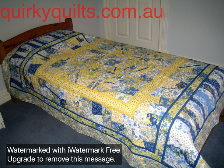 Handmade single bed patchwork quilt - for sale