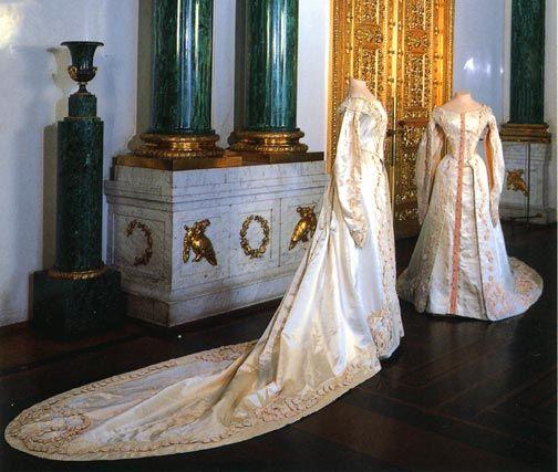 Ceremonial Court Costumes of Grand Duchess Tatiana Nicholaievna & Grand Duchess Olga Nicholaievna  c. 1913