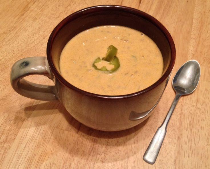 Low-Carb Beef Nacho Soup - Keto friendly, gluten free, sugar free