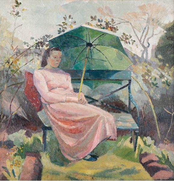 #Clara #Cowling: #Portrait of #Evelyn #Dunbar  Framed (ref: 9120) #Oiloncanvas #modernart #britishart #llfa #painting #art