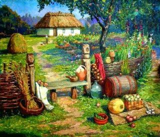 all_ukraine: Искусство Украины. Живопись. Дворики разные.