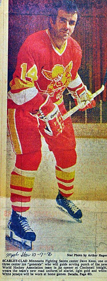 """Here's a rare photo of Hall of Famer Dave Keon wearing a """"new"""" Minnesota…"""