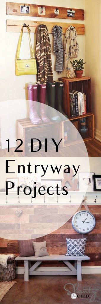 12 DIY Entryway Projects. DIY, DIY home projects, home décor, home, dream home, DIY kitchen, DIY kitchen projects, weekend DIY projects.