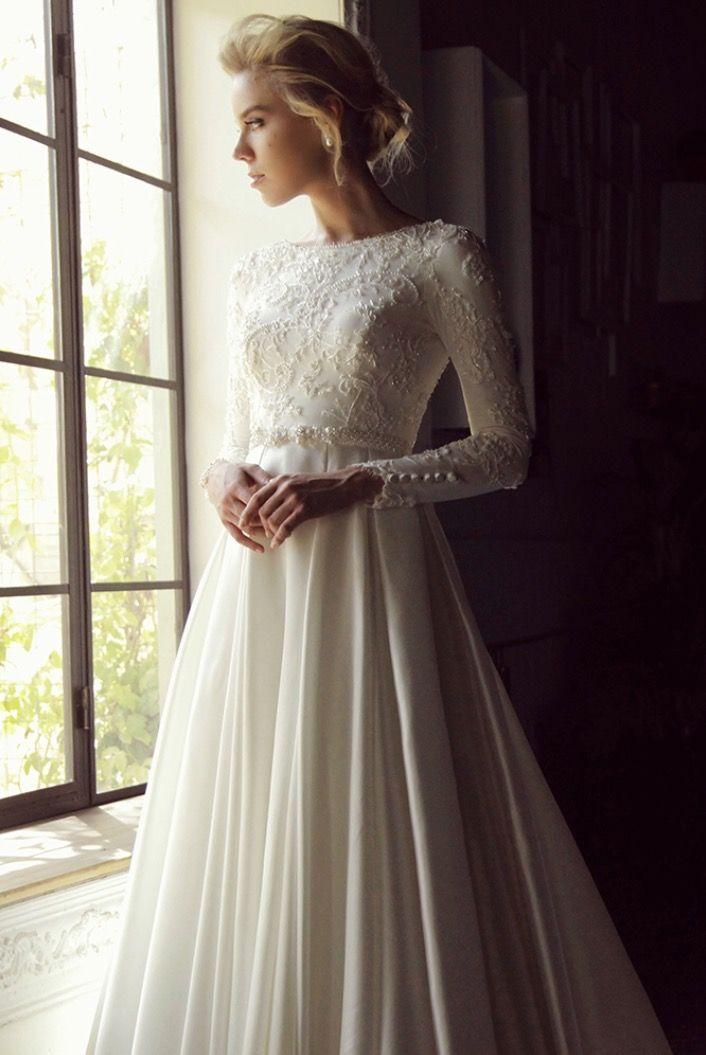 CM Kayla modest wedding gown