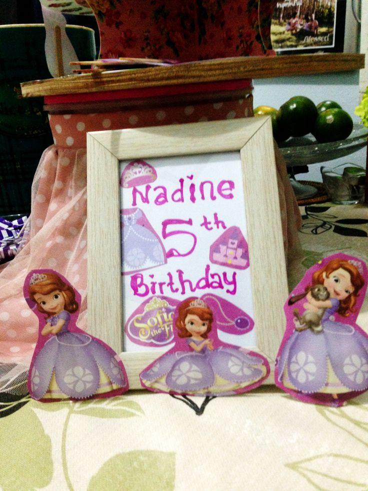 Princess Sofia birthday party decoration