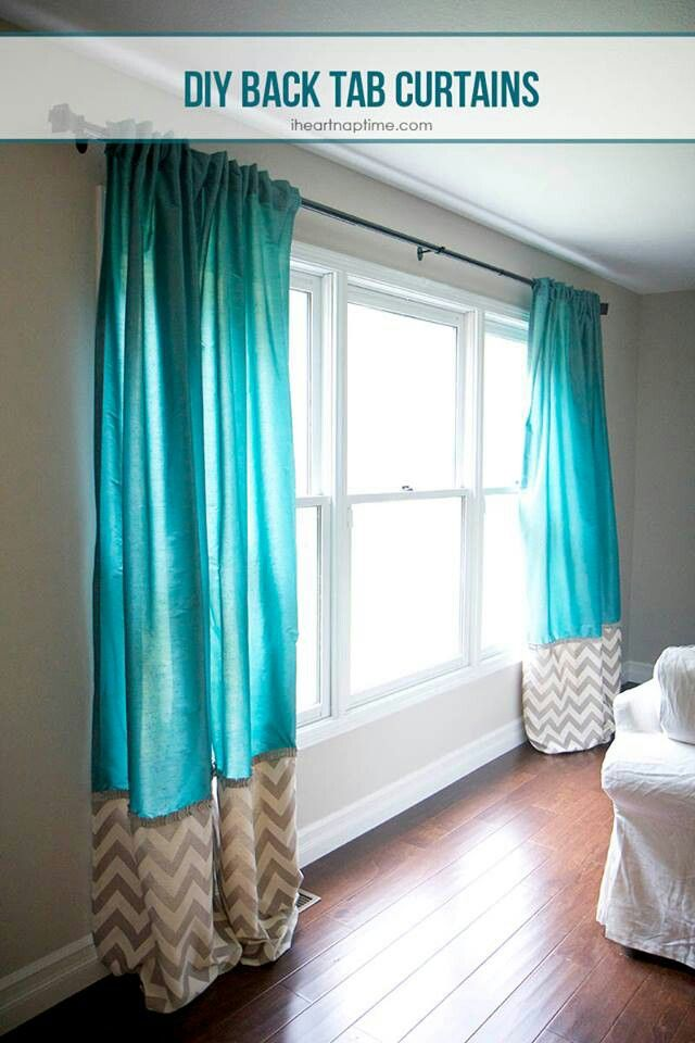 Chevron DIY curtains...CUTE @Matthew Buechel