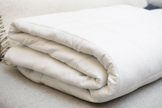 The Sunbeam Premium Quilted Heated Mattress Pad was the cushiest mattress pad we tested, with virtually undetectable heating wires.