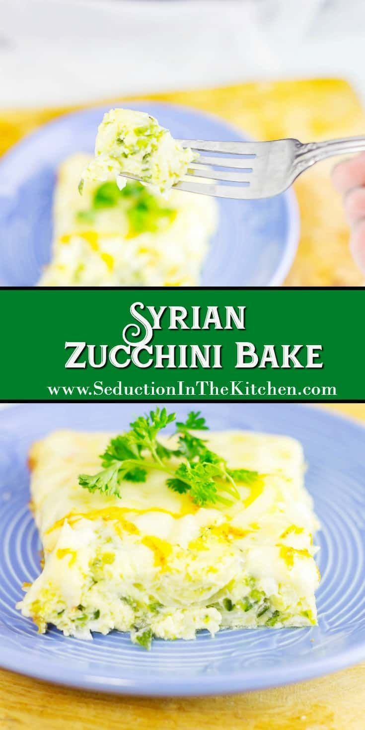 #Syrian #Zucchini Bake is a savory #frittata that can be very addicting. Layers of #onion, zucchini, and #cheese combined with #eggs in this dish. via @SeductionRecipe