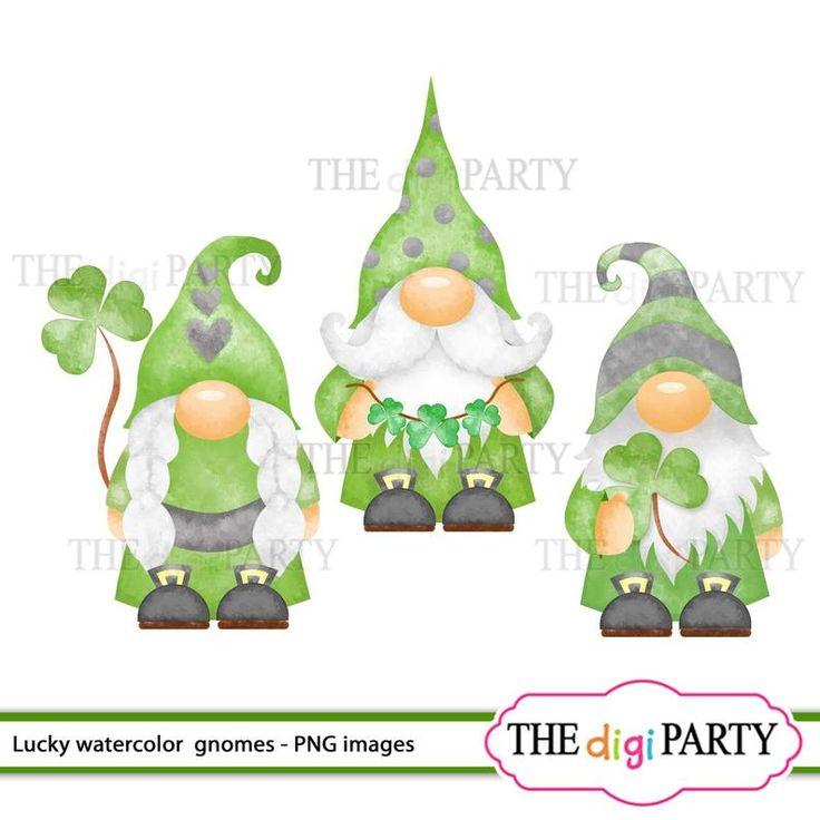 Download Watercolor St Patricks Gnomes cliparts, original digital ...