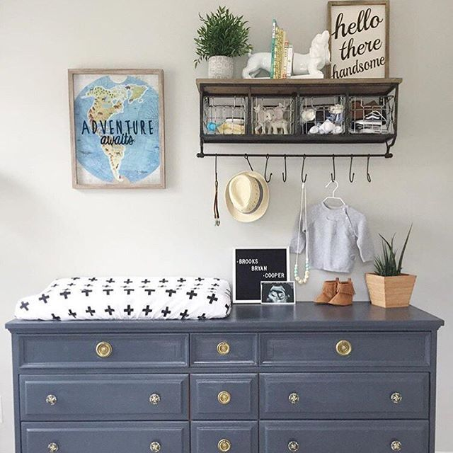 Travel + Adventure-inspired nurseries are one of our top 2016 trends and this one is styled to perfection! via @j_melee