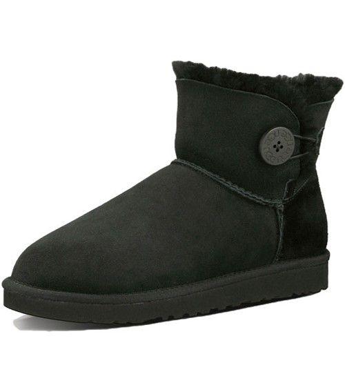 UGG Bailey Button Mini 3352 Boots- Black