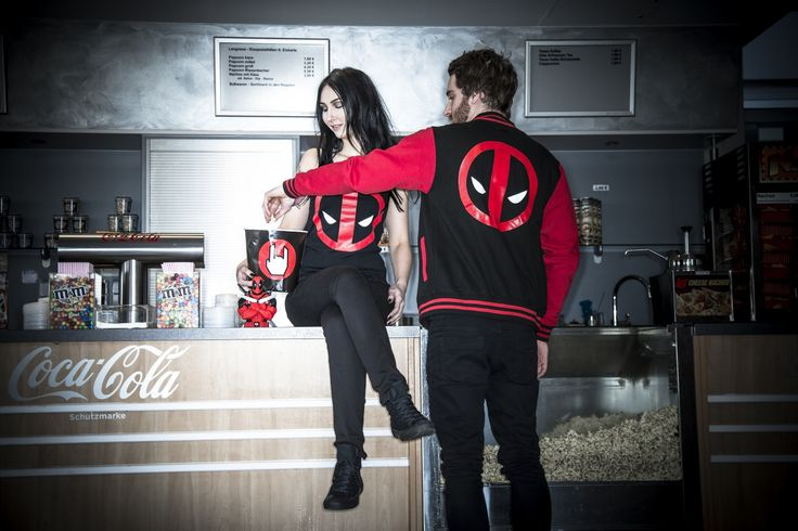 Wie geil ist das denn?! Deadpool Klamotten und Merch für SIE und IHN! #deadpool #empstyle  #Collegejacke: http://www.emp.de/art_320068/?wt_mc=sm.pt.pt_BMT_00000_20160629. deadpoolcollegejacke