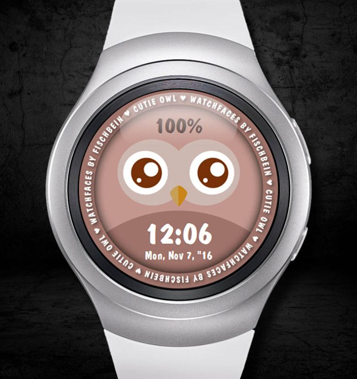 Cutie Owl 24h – Watchfaces by Fischbein
