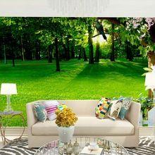 Decor muur-papers 3d natuur bos landschap foto behang muurschildering woonkamer TV muur papier (zelfklevende vinyl optioneel)(China)