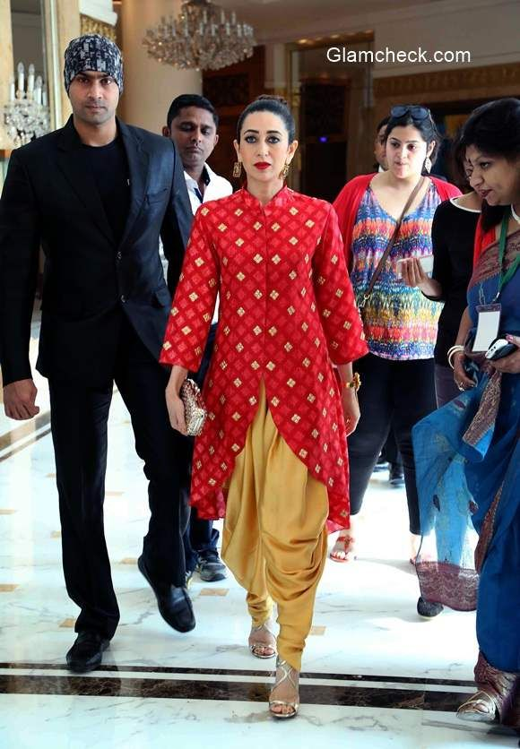 Karisma Kapoor in Swati Vijaivargie during the launch of McCain foods new outlet