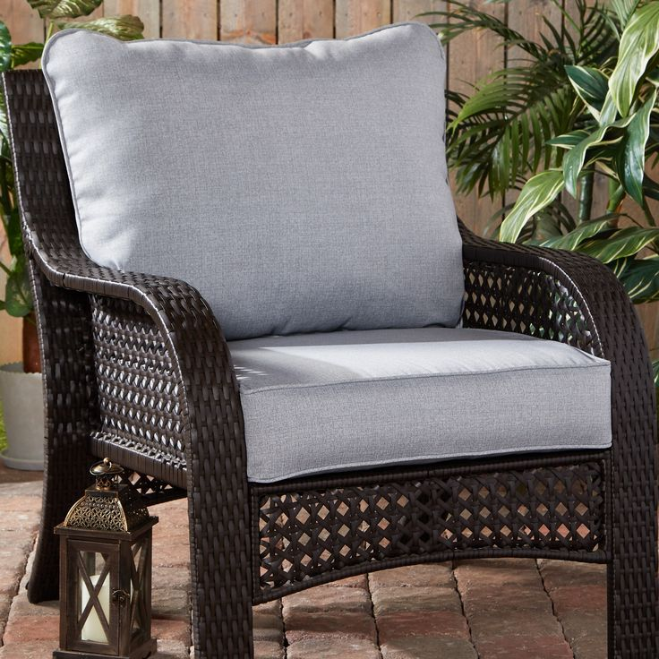 Heather Gray Outdoor 2pc Deep Seat Cushion Set Walmart