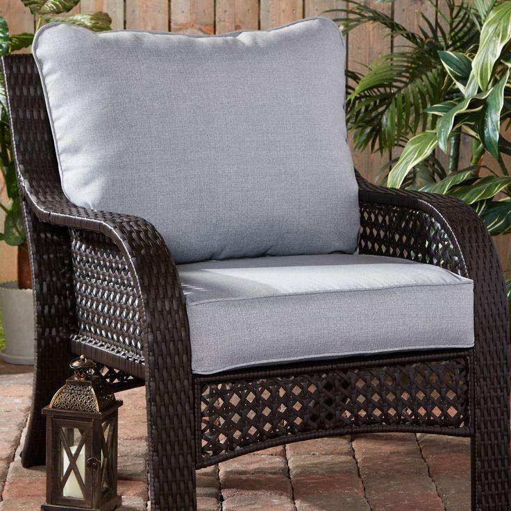Heather Gray Outdoor 2pc Deep Seat Cushion Set Walmart