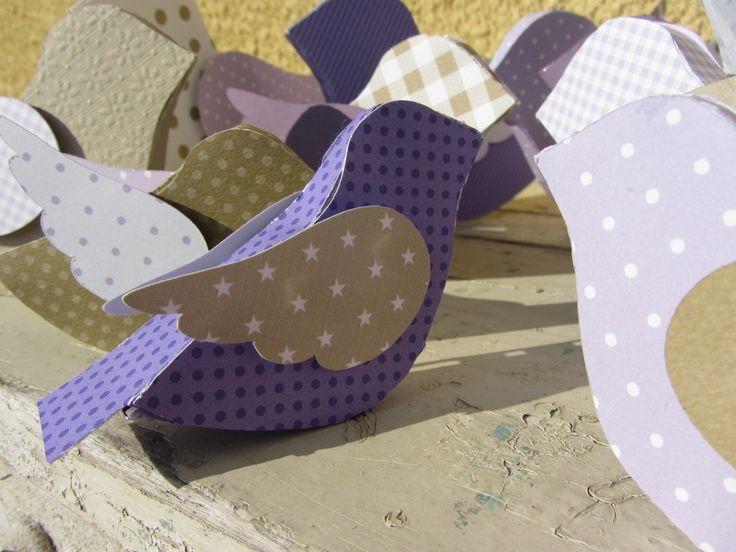 Oiseau décoratif, papier
