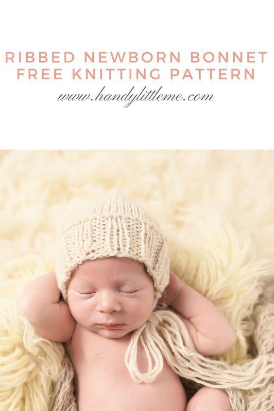 Baby Bonnet Knitting Pattern | Baby | Revistas
