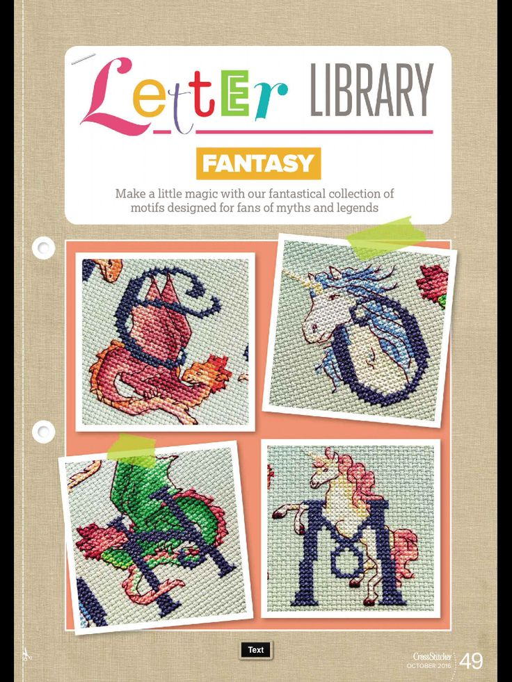 Fantasy Letter Library CrossStitcher Issue 310 October 2016 Zinio Saved