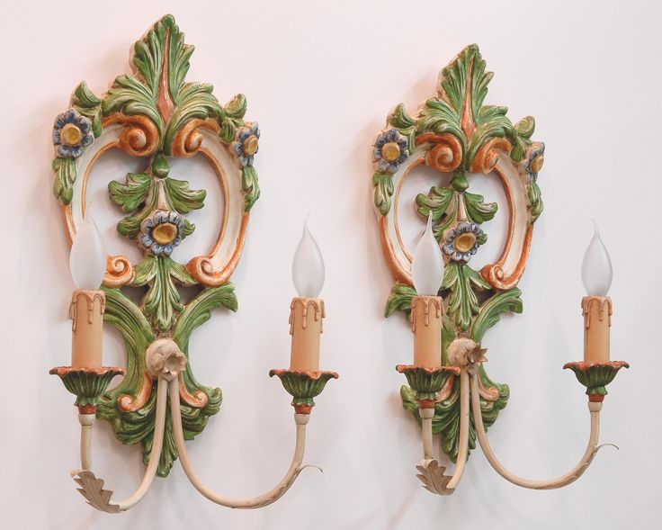 """""""FLOWERS""""  appliques.  Carved wood, laquered with natural pigments."""