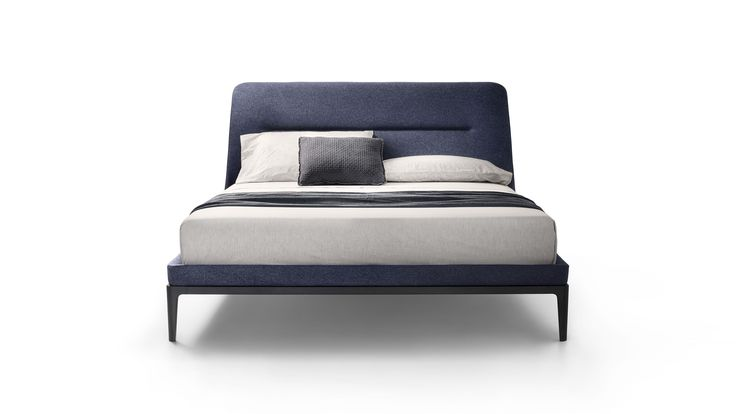 LEMA   Victoriano by Roberto Lazzeroni. Salone del Mobile 2017.  With its regal air, the upholstered bed with solid wood structure, VICTORIANO, is inspired by stylistic elements of the past brought up to date with a contemporary design. The design is distinguished by its high headboard, slightly curved at the sides to accommodate the mattress, and embellished by central topstitching.