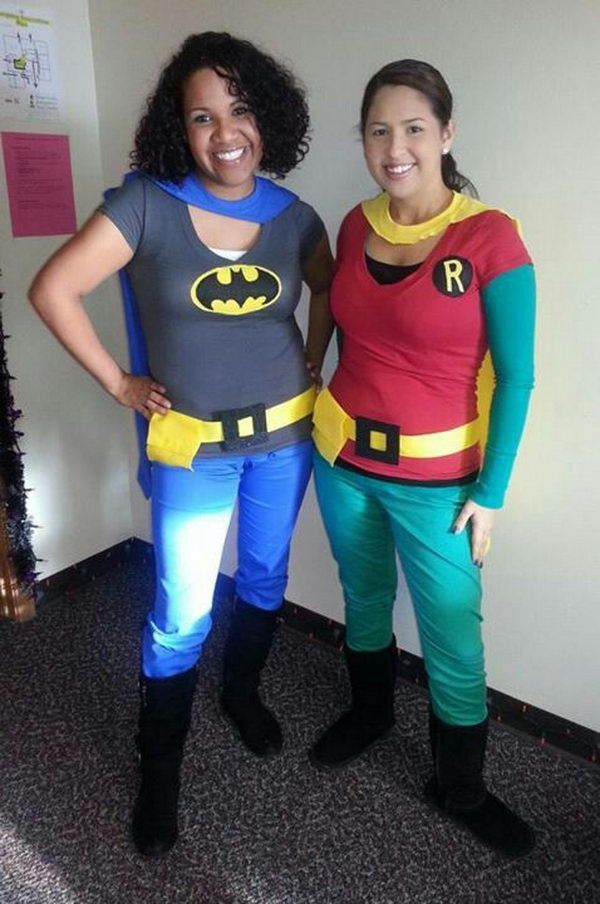 Homemade Batman and Robin Costumes. Super Cool Character Costumes. With so many cool costumes to choose from, you have no trouble dressing up as your favorite sexy idol this Halloween. http://hative.com/super-cool-character-costume-ideas/