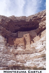 """Montezuma Castle was a mistaken name. Early settlers who discovered the cliff dwelling ruins erroneously connected them to the Aztec emperor Montezuma, but in-fact the Sinaqua ruins had been abandoned a hundred years before Montezuma was even born. And the dwellings weren't a castle at all, but a multi-family """"prehistoric high rise apartment complex""""."""