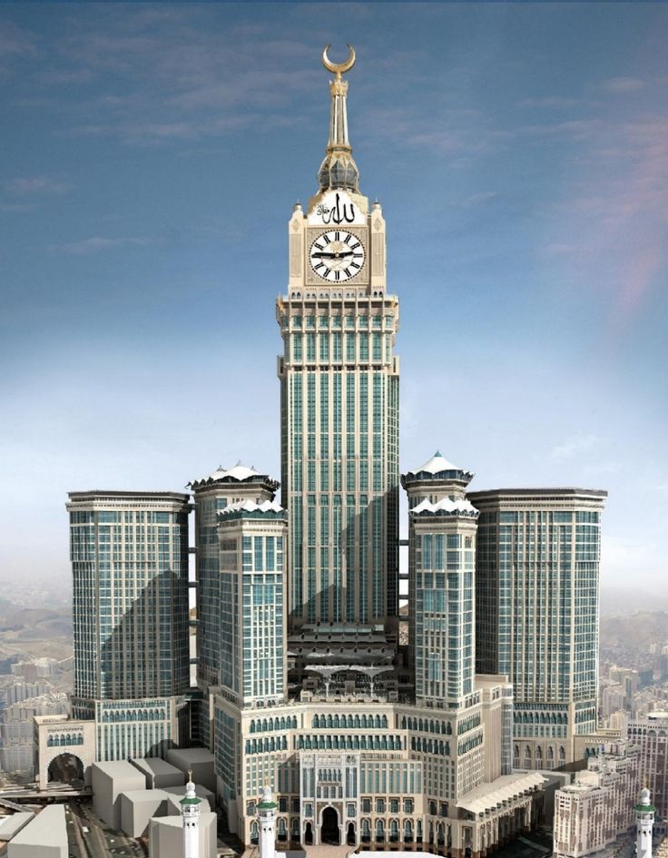 The Abraj Al-Bait Towers, also known as the Mecca Royal Hotel Clock Tower, #Mecca, Saudi Arabia.