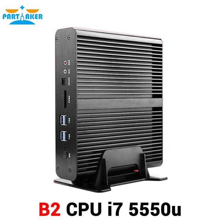 5th Gen Mini PC Core i7 5550U HTPC 3D Game PC Barebone System Computer with Dual LAN Dual HDMI 300M Wifi