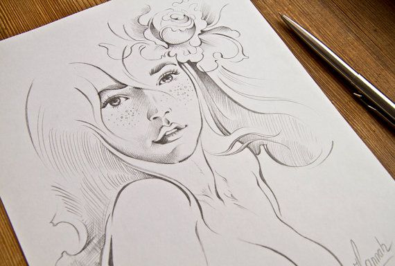 """Rose Flower"" -drawing by Anna Miarczynska"