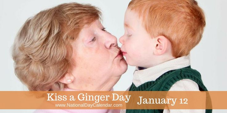 Today you are encouraged to find your favorite redhead and give them a peck on #KissAGingerDay Here are some redhead facts: Redhair gene is recessive and requires two copies for it to present itself.  Even then there is no guarantee it will. If both parents have the gene, there is a 1 in 4 chance they will have a redheaded child.  Most natural born redheads (yes, some of us like the bottle) have brown eyes, followed by green or hazel.  Coming in at 1% of the world's population...