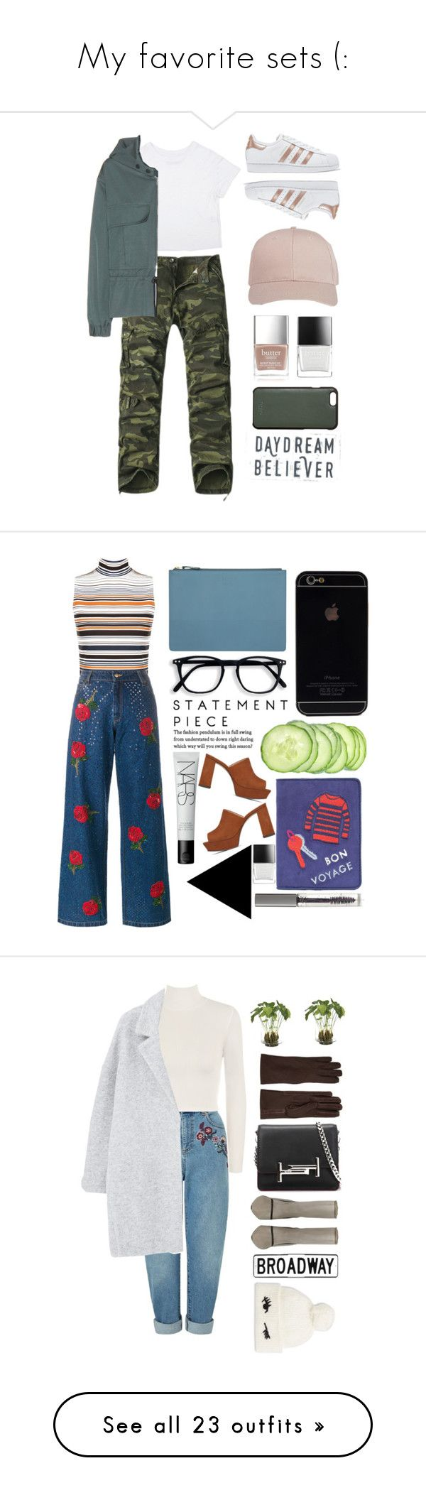 """""""My favorite sets (:"""" by aline-sofia ❤ liked on Polyvore featuring STELLA McCARTNEY, adidas Originals, Butter London, Knomo, WearAll, Ashish, CÉLINE, NARS Cosmetics, Vince Camuto and Lizzie Fortunato Jewels"""