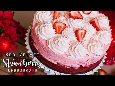 Red Velvet Strawberry Cheesecake - Tatyanas Everyday Food