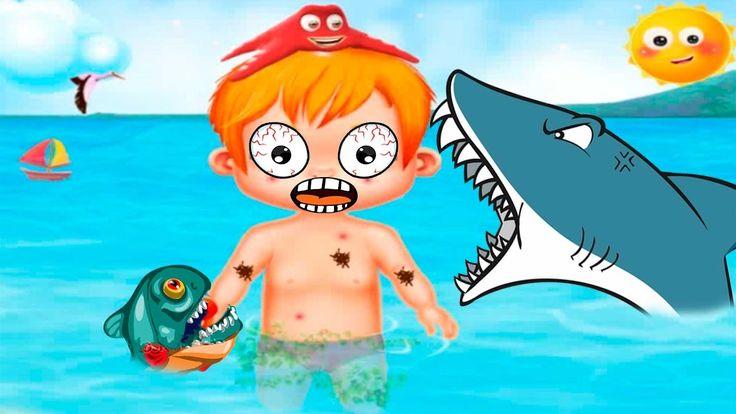 Веселье на ПЛЯЖЕ Мультики Игра для детей Крошки МАЛЫШИ купаются на МОРЕ ...