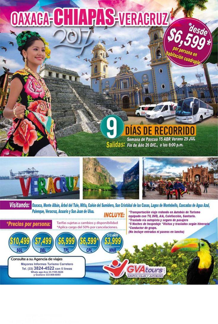 Te invitamos a viajar en nuestras Excursiones, salidas garantizadas, transporte, hospedaje, paseos y mas a conocer a la Mariposa Monarca, Pto. Vallarta, Huasteca Potosina, Grutas de Tolantongo, CDMX (Mexico DF), Sureste y Caribe Mexicano (Cancun), Oaxaca, Chiapas y Veracruz Mayores Informes al (33) 3824-4522 con 5 lineas www.renta-sprinter.com Salidas desde Guadalajara, Jal. Mex.