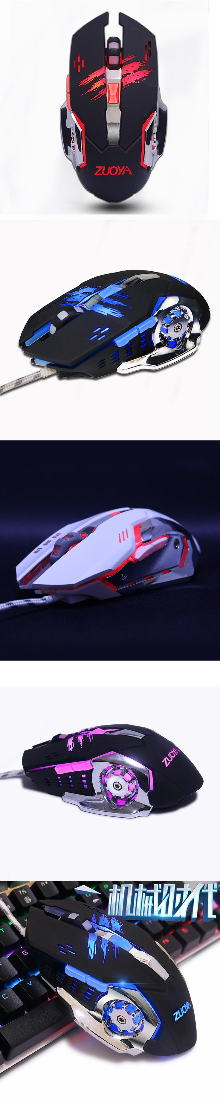 Gaming Mouse mouse 6 Buttons Adjustable 3200DPI Optical Macro Programming USB game wired Mice for for Computer Desktop Laptop