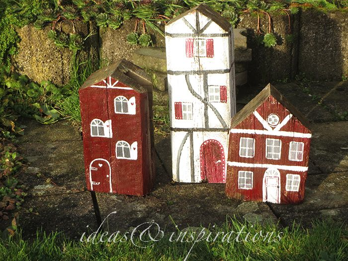 Diy Dekorative Schwedenhauser Aus Holz Fur Den Garten Swedish Wooden Houses Holz Dekoration Selbermachen