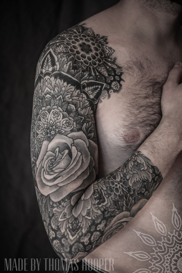 Thomas Hooper Floral Sleeve Tattoo