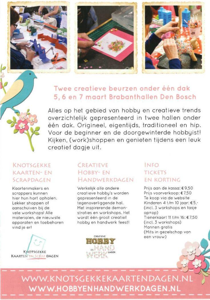 De Creatieve Hobby- en Handwerkdagen, 5-6-7 maart 2015 in de Brabanthallen in Den Bosch #Hobbybeurs