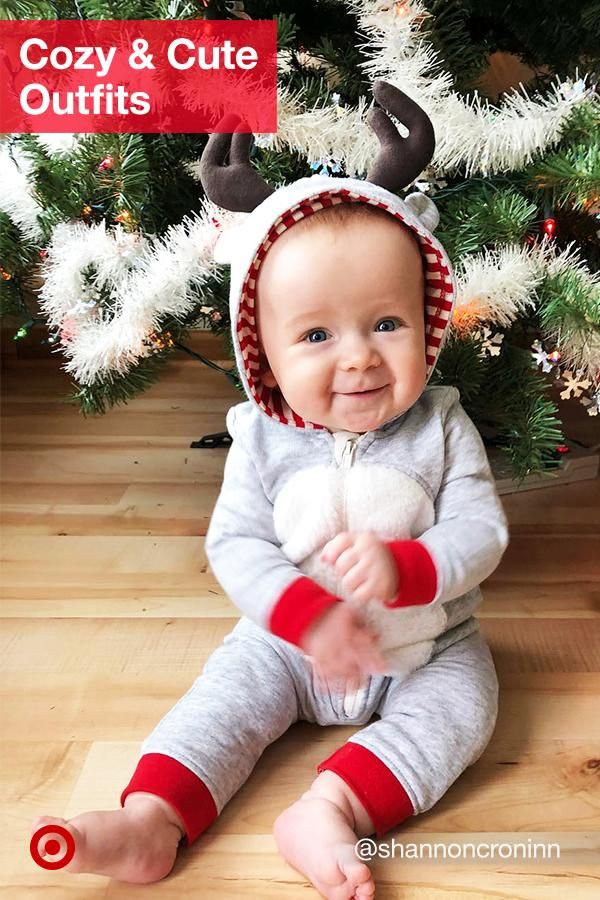 9880c188cecaf Get cuddle-worthy winter outfit ideas for your baby. From Christmas cozy  bodysuits to super-cute dresses.