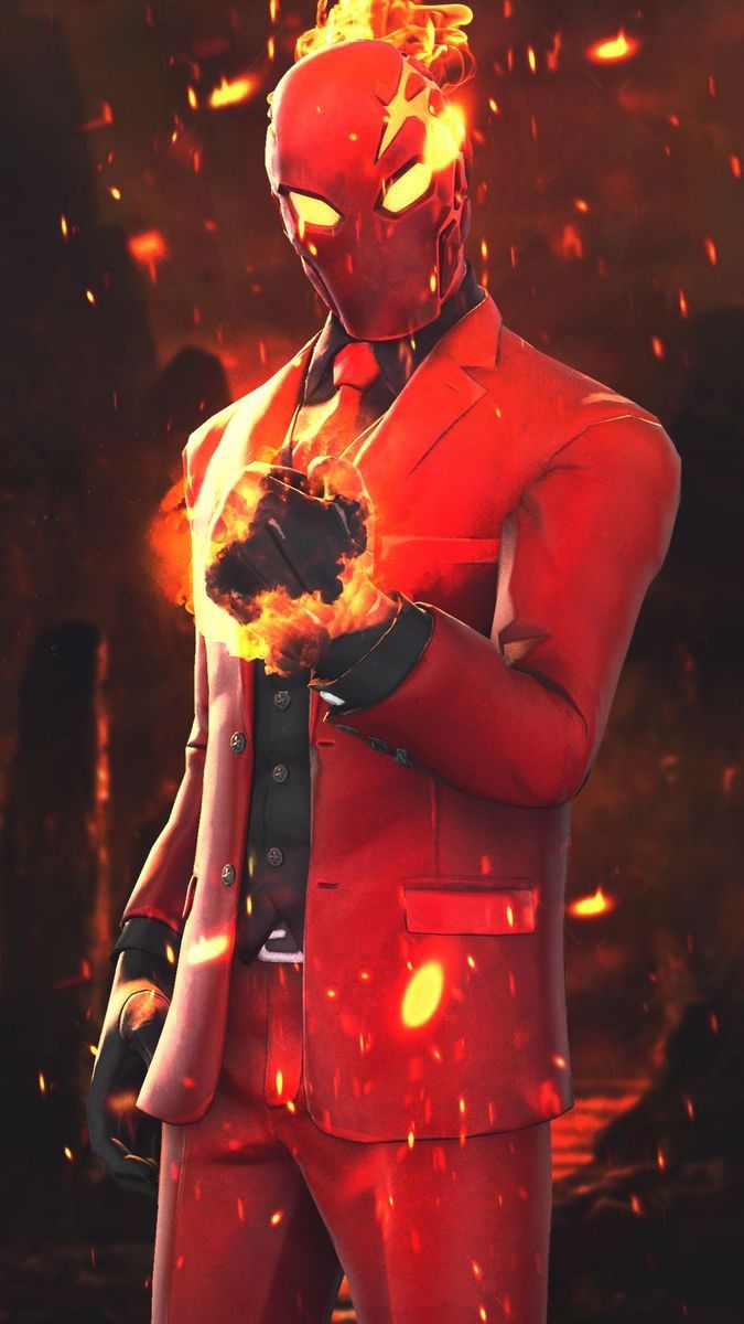 Fortnite Skin is flaming hot fortnite gaming
